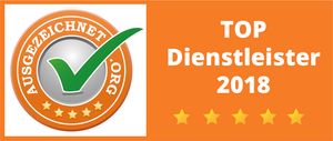 ausgezeichnet.org Top Dienstleister 2018 Auszeichnung
