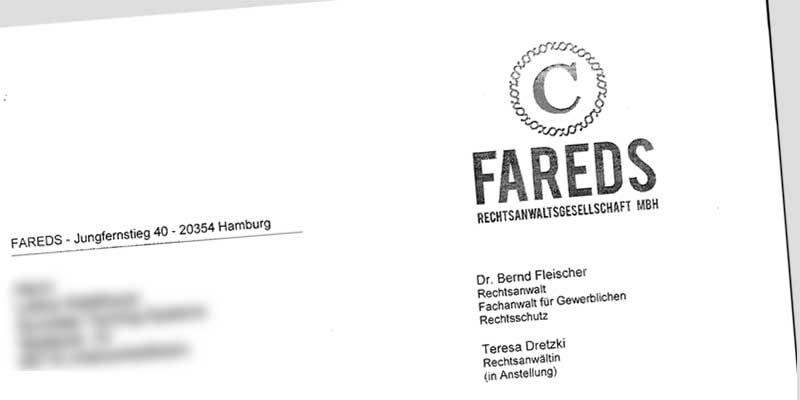 Fareds Abmahnung Harald Durstewitz