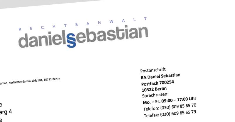 Daniel Sebastian Abmahnung