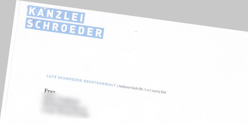 Lutz Schroeder Abmahnung Ernst Westphal