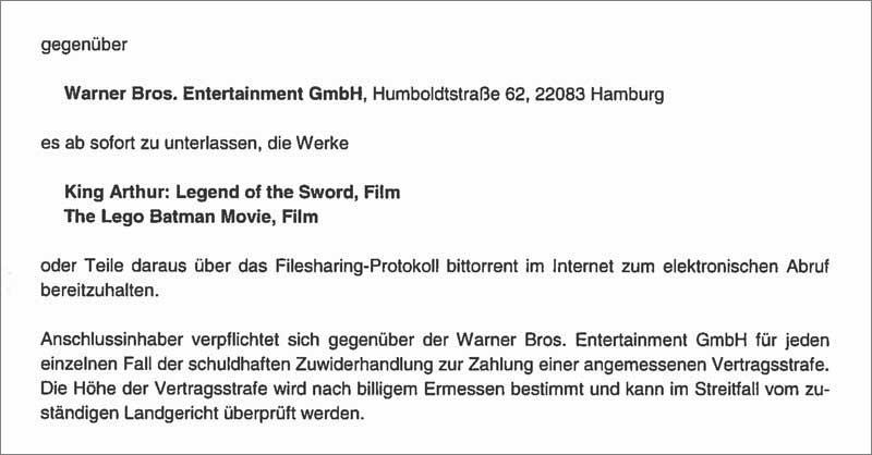 Waldorf Frommer Unterlassungserklärung