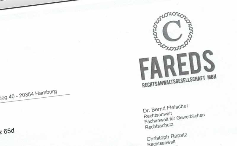 Fareds Abmahnung T & D Versand
